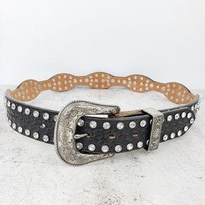 Tony Lama   Western Tooled Leather Belt sz 32